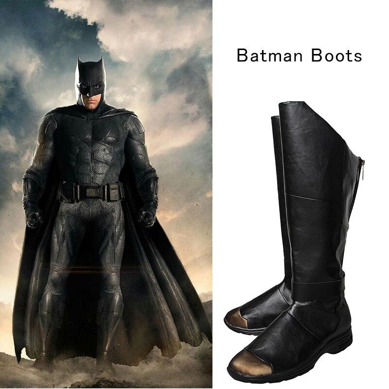 Лига Справедливости Бэтмен ботинки для костюмированной вечеринки Брюс Уэйн обувь Бэтмен против Супермена рассвет супергероя Косплэй черн...