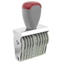 Офис 10 полоса 5 мм х 3 мм Резина 0-9 цифры печать для нумерации серый красный