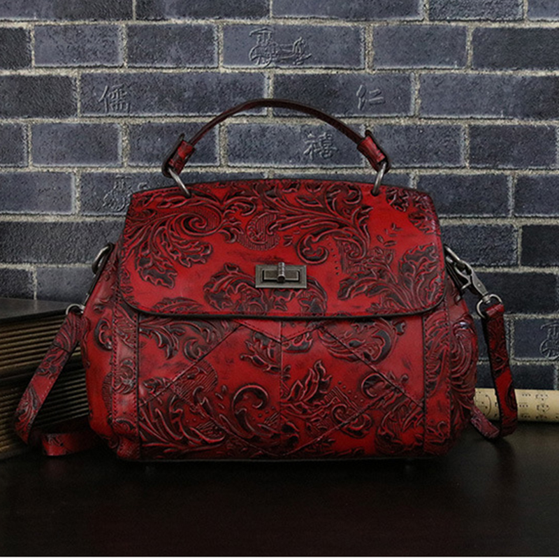 Women Top Handle Messenger Shoulder Bags Top Quality Genuine Leather Hobo Bag Female Natural Skin Tote Handbag Cross Body Pack 2015 fashion women floral genuine leather handbag elegant shoulder bag new style messenger bags women top handle bags hot tote