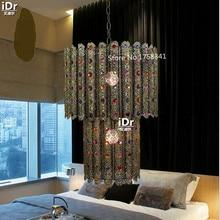 Арабский золотой кристалл лампы спальни лампа ресторан огни гостиная лампы освещения лампы Подвесные Светильники Rmy-0629