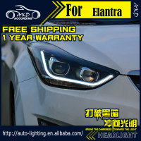 AKD Car Styling Headlight Assembly For Hyundai Elantra Headlights Bi Xenon LED Headlight Avante DRL HID