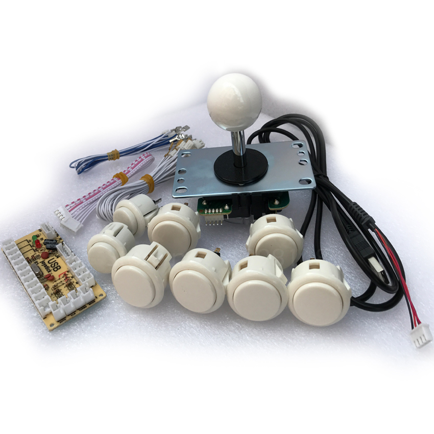 DIY Arcade KIT for PC/PS2/PS3 USB Zero Delay Encoder+SANWA Joystick+ SANWA 30 and OEM 24mm Push Button+cable for PCB oem 30 x 30 diy 30x30cm