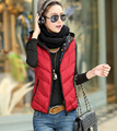 Новый южный корейский стиль мода женщин осень / зима Ma3 jia3 большой ярдов с капюшоном чистый цвет жилет элегантных женщин тонкий жилет пальто G1610