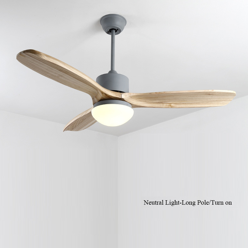 Nordic 48 Inch Led Ceiling Fan Wooden