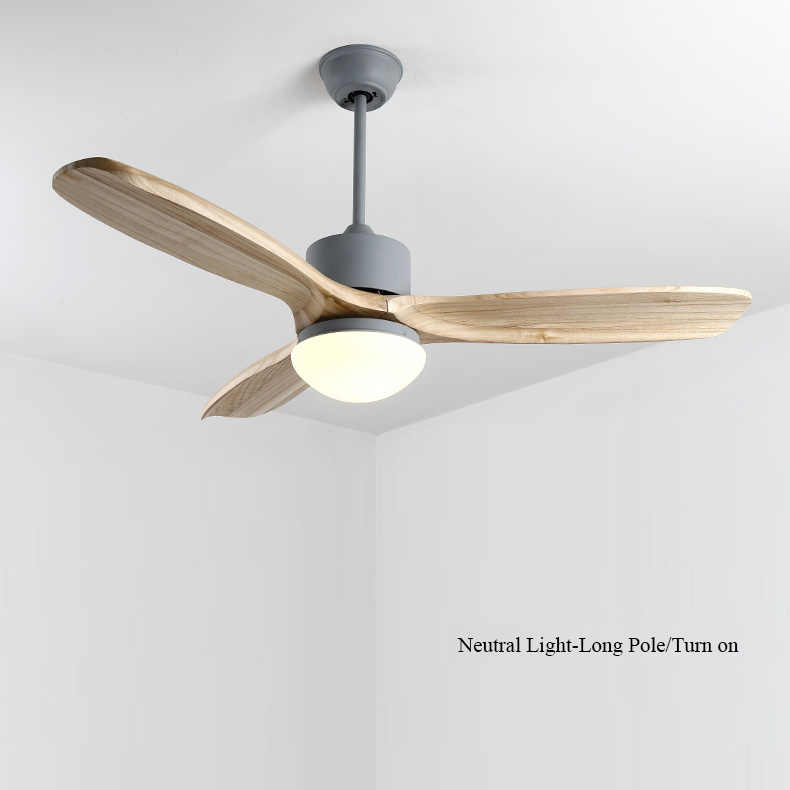 Nordic 48 Inch Led Ceiling Fan Wooden