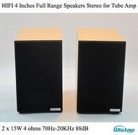 IWISTAO HIFI 4 дюйм(ов) ов) полный диапазон динамиков стерео 4 Ом 70 Гц 20 кГц 88dB 2 Вт x 15 Вт для лампового усилителя высокого экономичного