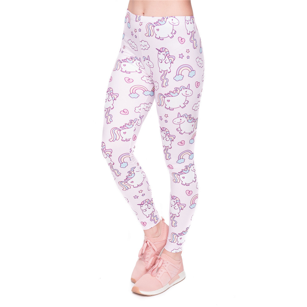 High Quality Women Legging Unicorns World Printing Fashion Leggings Elegant Cozy Woman High Waist Pants