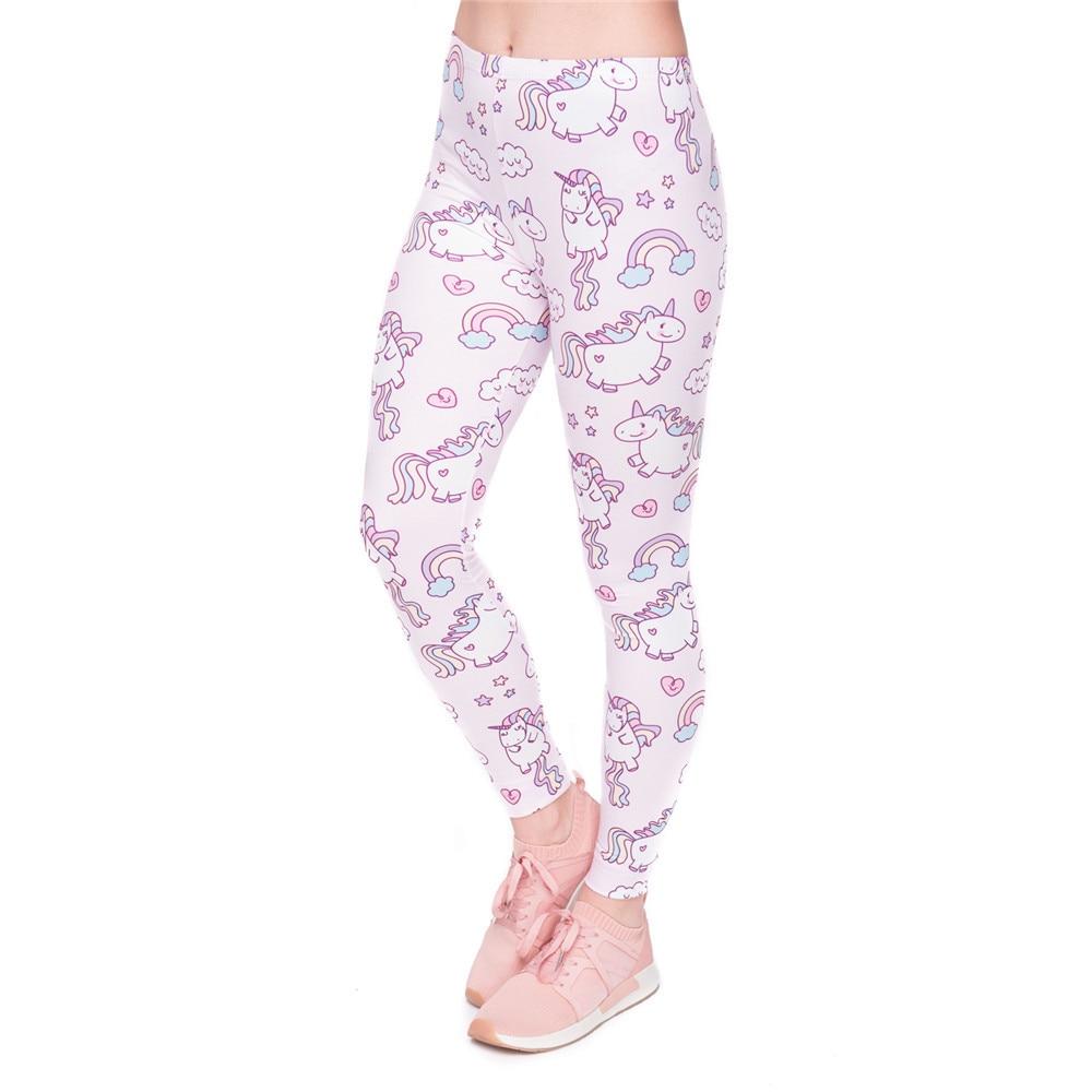 High Quality Women Legging Unicorns World Printing Fashion Leggings Elegant Cozy Woman High Waist Pants