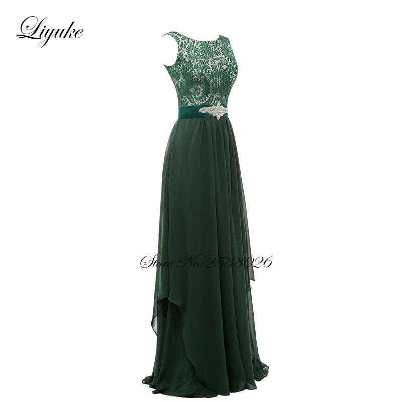 Liyuke krajka s šifónem družiček šaty formální šaty - Šaty pro svatební hostiny - Fotografie 2