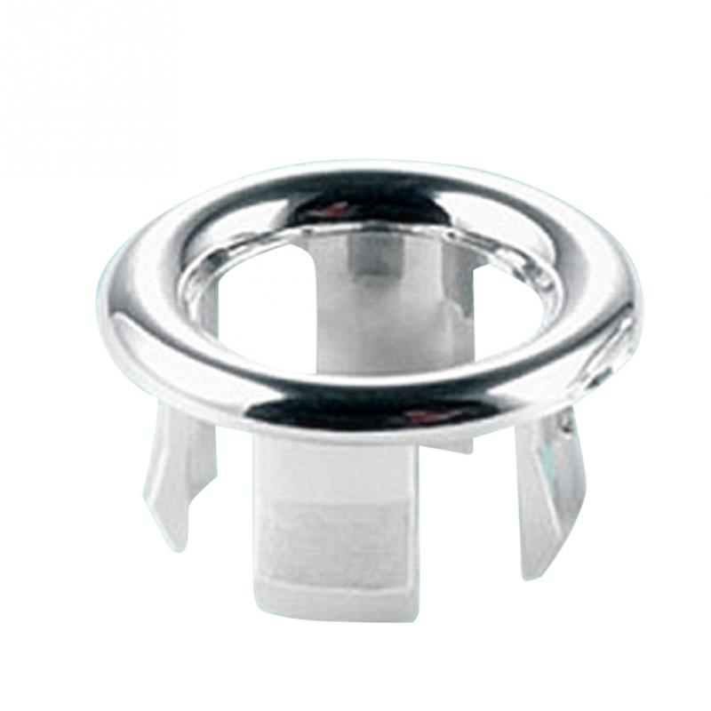 1Pc Sink Basin Round Ring Overflow Spare Cover Quality Bathroom Ceramic Wash Basin Overflow Ring Tidy Chrome Trim Ring #20