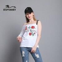 DOVINRRY 2017 New Summer T Shirt Women Casual Print Top Tees Fashion Short Sleeve T Shirt