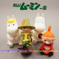 1pcs 9-14CM Japanese classic anime figure Moomin Snorkmaiden/Snufkin/Little My/Sniff action figure Piggy Bank collectible model