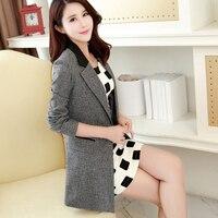 Women Long Suit Jacket Sleeve Length Casual Ladies Blazer Designs Formal Jackets Work Coat Chaqueta Mujer