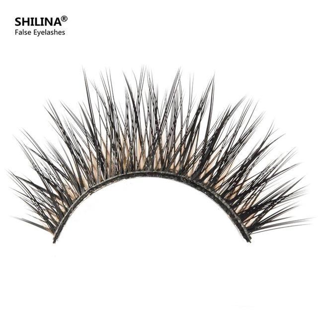SHILINA 3050 Natural Mink False Eyelashes 1 pair Long Eyelash High Quality Fake Eye Lashes Extension Band Makeup Wholesale *