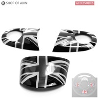 Steering Wheel Decal Graphics Cover Smooth Surface For Mini Cooper Clubman hardtop Countryman 07 13 R55 R56 R57 R58 R59 R60 R61