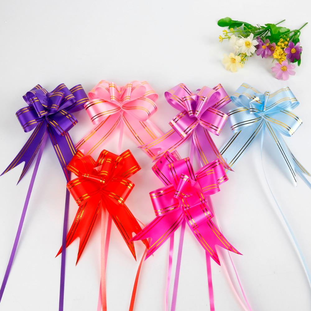 10Pcs Ribbon Pull Bows Flower Wedding Decoration Gift Wrap DIY RF