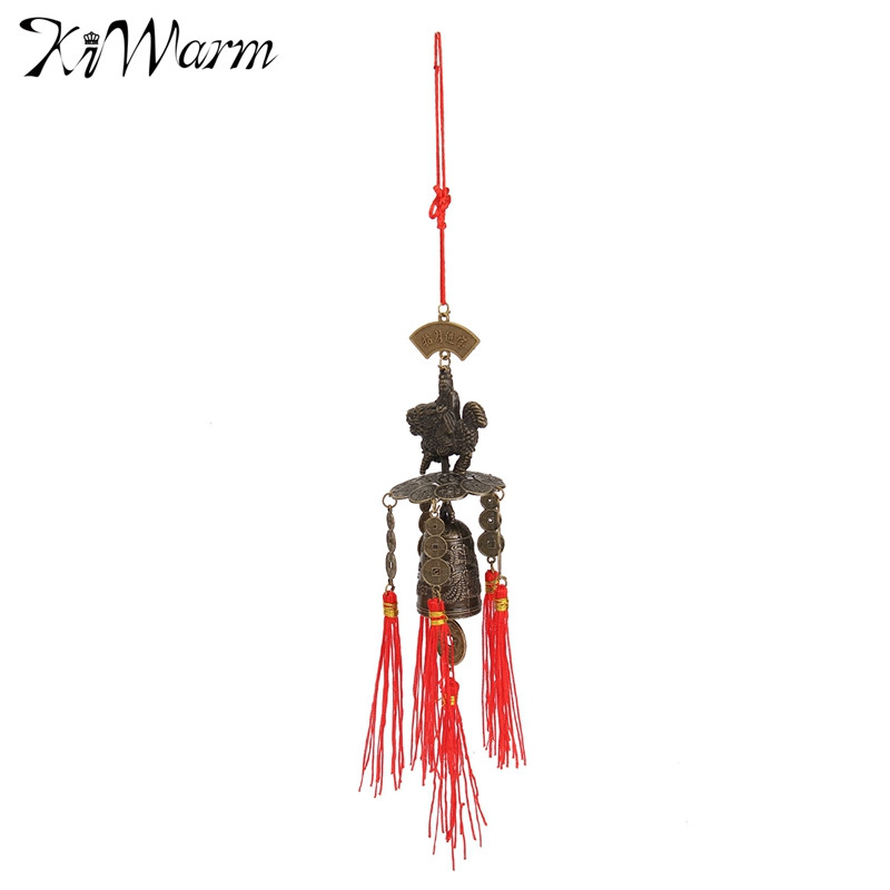 Kiwarm Chinese Single Bell Lucky Feng Shui Hanging Wind Chime Yard Garden  Outdoor Decor Fortune For