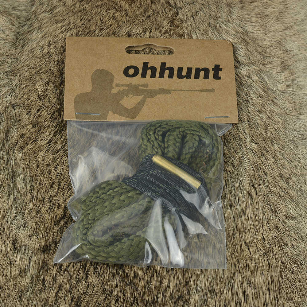 Ohhunt Jacht Boring Snake gun cleaning 9mm. 380 Cal GA Gauge Boresnake Barrel Shotgun Brons Cleaner Kit