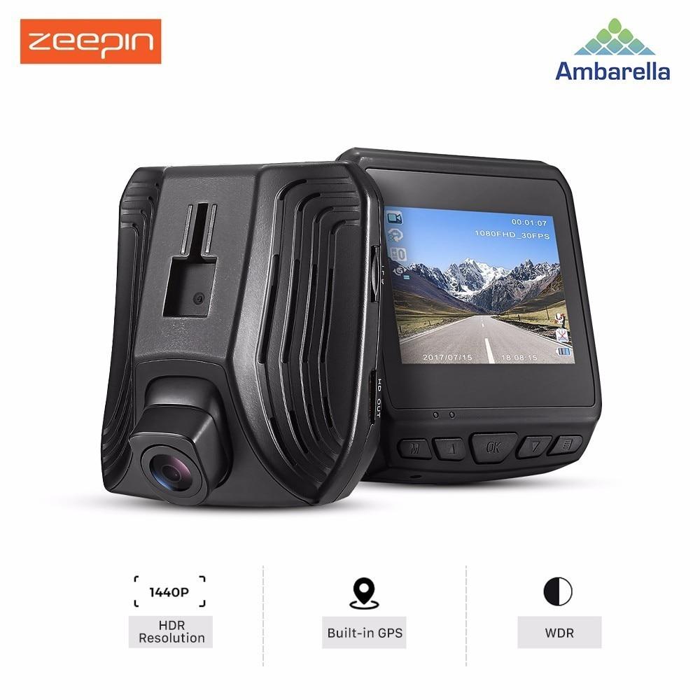 ZEEPIN DAB211 Car DVR Hidden Dash Cam Ambarella 2.3 Inch GPS HDR 1440P ADAS WDR G-sensor Night Vision Car Driving Recorder