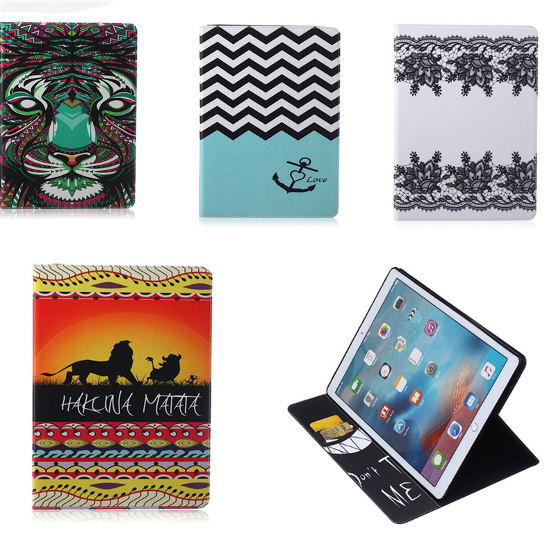 BF-Colorful Cartoon Cover For Apple Ipad Pro 12.9 inch Tablet case Flip stand Card Slot PU Leather Case For iPadPro 12.9