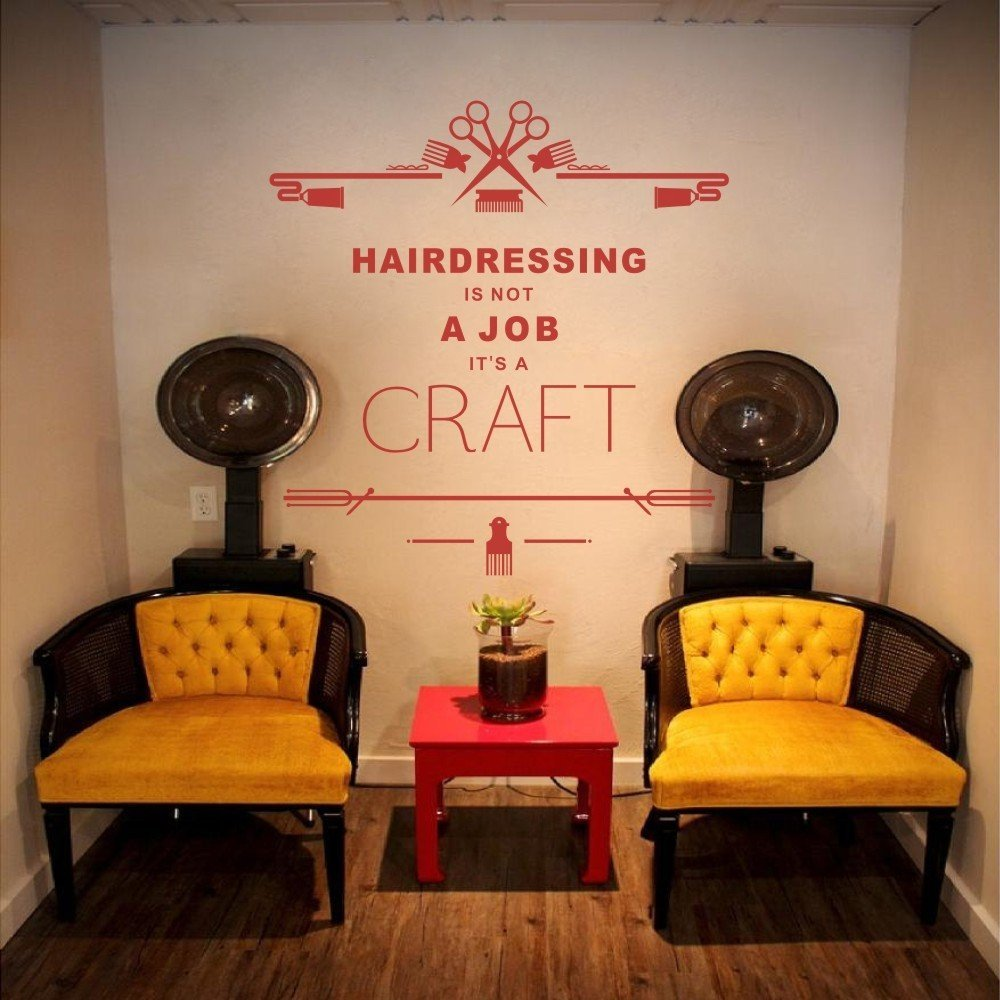 Hair Salon Wall Decal Quote A Craft Barber Shop Beauty Salon Nail ...