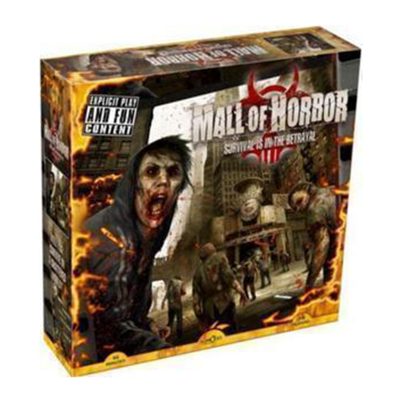 Mall of Horror  Board Game High Quality Chinese Version With English Instructions Survival Game With Free Shipping saboteur board game 1 2 version saboteur1 version jeu de funny board game with english instructions family board game