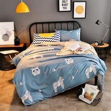 Free shipping Kids Bed Set bedlinen Duvet Cover/Bed Sheet/Pillowcase Cover Cartoon Animal AB Side Style 4 PCS Bedding