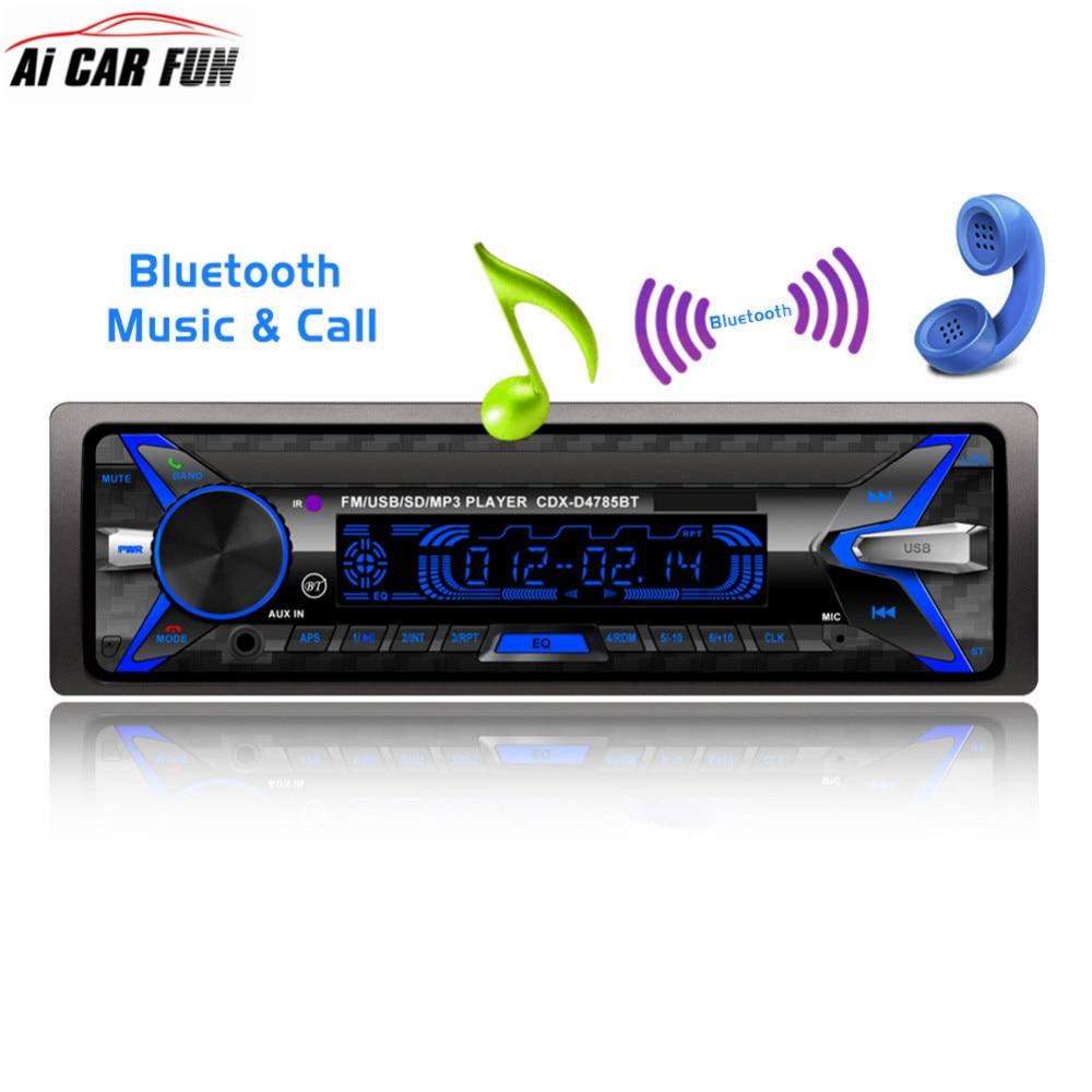 D4785 voiture lecteur MP3 Bluetooth universel panneau amovible voiture stéréo lecteur Audio USB/SD/MMC lecteur de carte télécommande