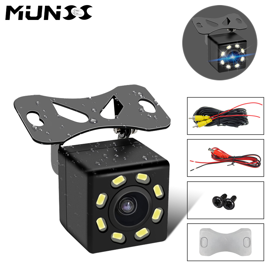 Car Rear View Camera HD Wide Angle Night Vision Waterproof 170 Degree Mini Car Camera Parking Reverse Car Rearview Mirror Camera