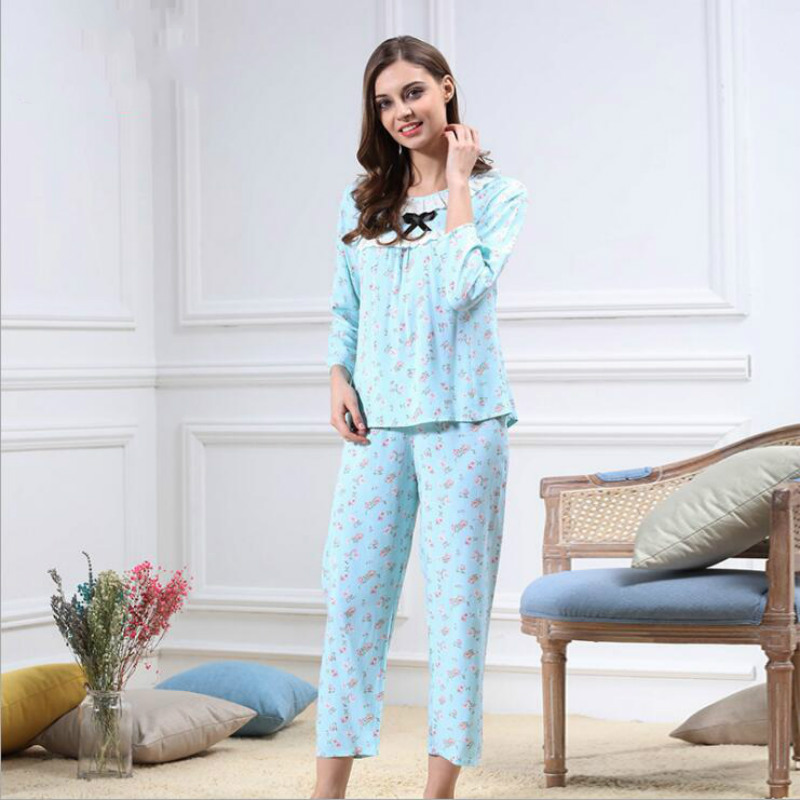 c54ae3a874c26 Pijama Women Fille Homewear Schlafanzug Damen Pijamas De Mujer Woman  Sleeping Pyjama Ete Femme Ladies-in Pajama Sets from Underwear   Sleepwears  on ...