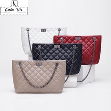 Plaid Crossbody bags for women 2019 Large Female Handbags Designer Black White Leather Messenger Tote Bag sac main femme(China)