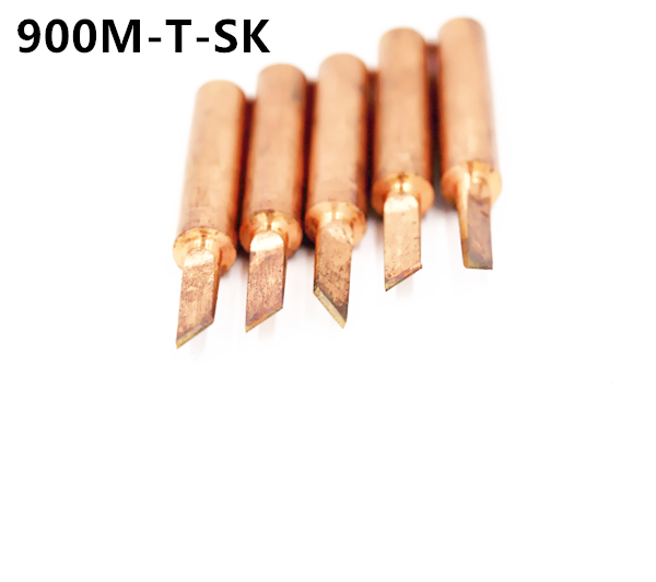 SZBFT 5piece 900M-T-SK Lead-free Red Copper Pure Cupper Solder Tip  For Hakko 936 FX-888D Saike 909D 852D+ 952D Diamagnetic DIY
