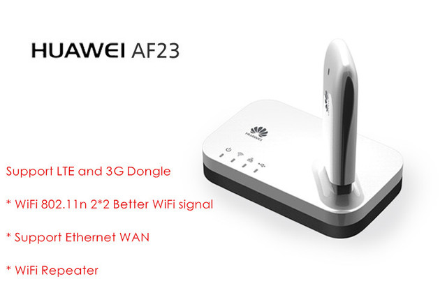Huawei af23 4g lte/3g sharing muelle usb ethernet Ethernet del Router Hotspot WiFi punto de acceso Hotspot WiFi Punto de Acceso