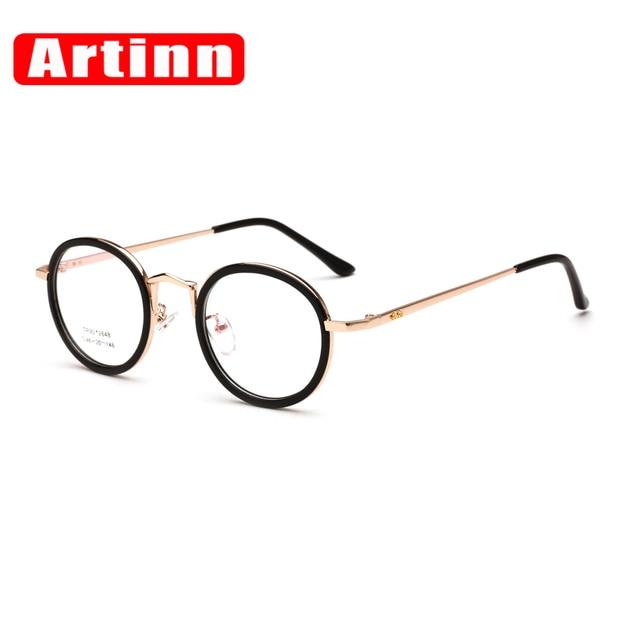 46f64888b Super Light 2017 Women Men Unisex Retro Round Metal Frame Optical Eyewear  Clear Lens Glasses Nerd Spectacles Eyeglass 92648W