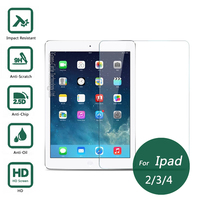For Ipad 2 3 4 Tempered Glass Screen Protector 2 5 9h Safety Protective Film For