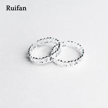 Ruifan Hot Sale Love Heart Shape 925 Sterling Silver Rings for Women Girls Ladys Fashion Open Light Ring Fine Jewelry YRI009