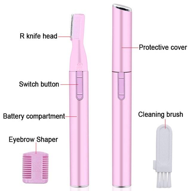 Electric Face Eyebrow Scissors Hair Trimmer Mini Portable Women Body Shaver Remover Blade Razor Epilator 1