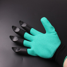 Gloves working garden rubber polyester builders work gloves digging household gloves Plastic claw gloves gardening free shipping
