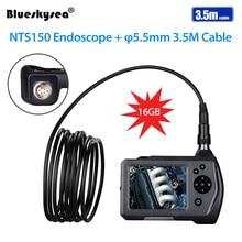5.5mm borescope Camera New NTS150 3.5 color LCD Display Monitor Inspection Endoscope 6 LEDS Borescope 3.5mm Snake Tube Camera цена