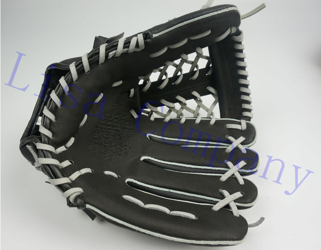 black colour children adult left and right hand high quality baseball glove non-slip super soft wear-resisting 3