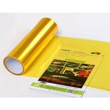 Film transparent autocollant en vinyle pour phare de voiture, 30x60cm