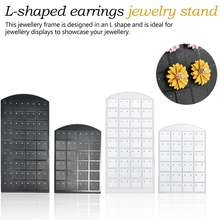 L-shaped earrings jewelry frame 36 pairs of 24 pairs of 12 pairs of jewelry black and white display stand(China)