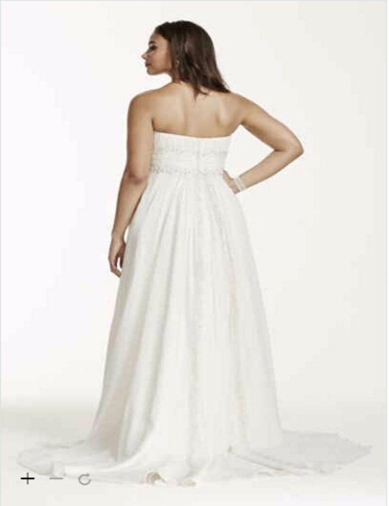 7b32d06f407e Custom Made 2016 New Free Shipping Chiffon Empire Waist Plus Size Wedding  Gown Style 9V9743 Wedding Dresses-in Wedding Dresses from Weddings & Events  on ...