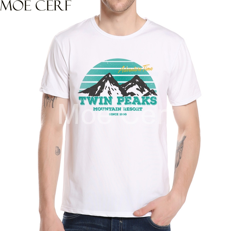 Twin Peaks Mens T-Shirt 2018 Newest Fashion Printed Mens T-Shirt Hip Hop Summer Brand Clothing Hipster Cool Tops L5-84