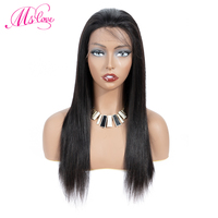 Ms Love Short Bob Wig Lace Front Human Hair Wigs For Black Women Brazilian Straight Hair Wig