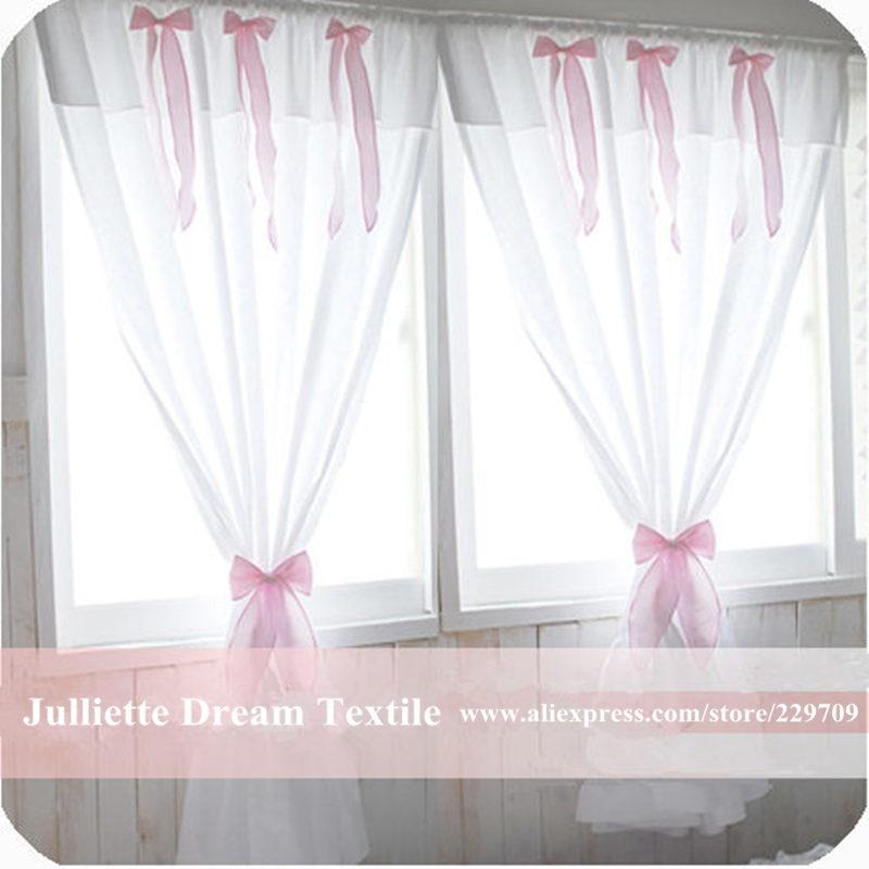 Bref rideau en tissu doux arc cortina chambre fenêtre rideaux pour salon princesse mariage décor méditerranéen jeunesse rideau