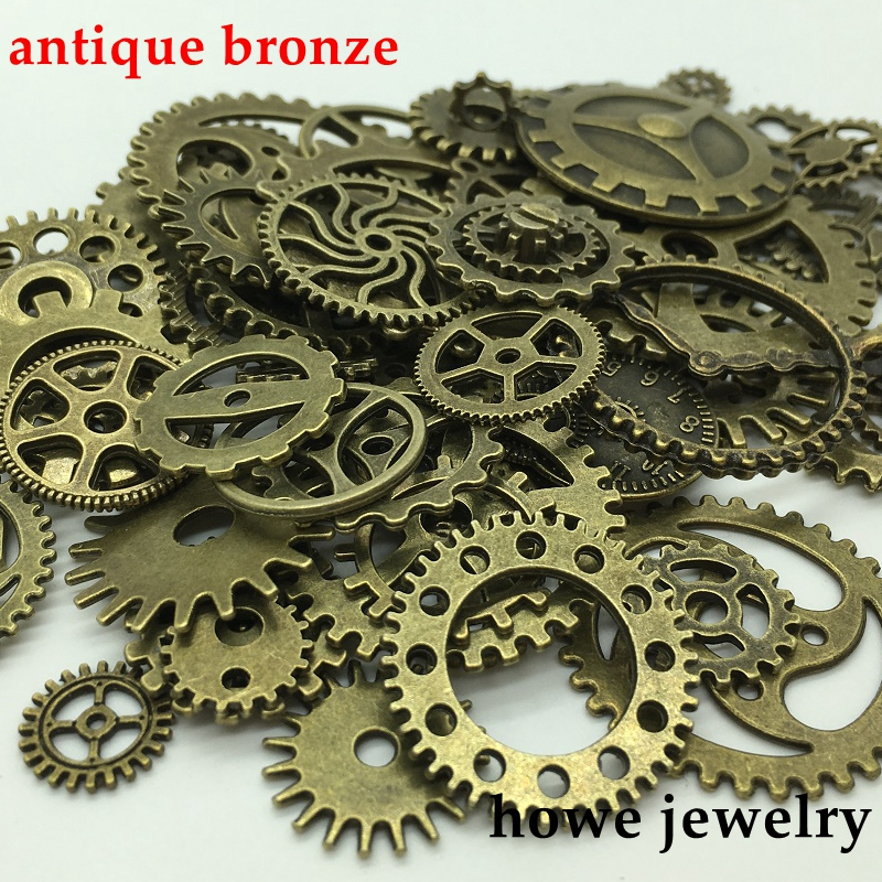 Mixed gears hands Charm DIY Metal Jewelry Making