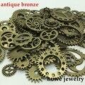Mixta 100g steampunk engranajes y ruedas dentadas manecillas del reloj Del Encanto de bronce Antiguo Fit Collar de Las Pulseras DIY Metal Fabricación de Joyas