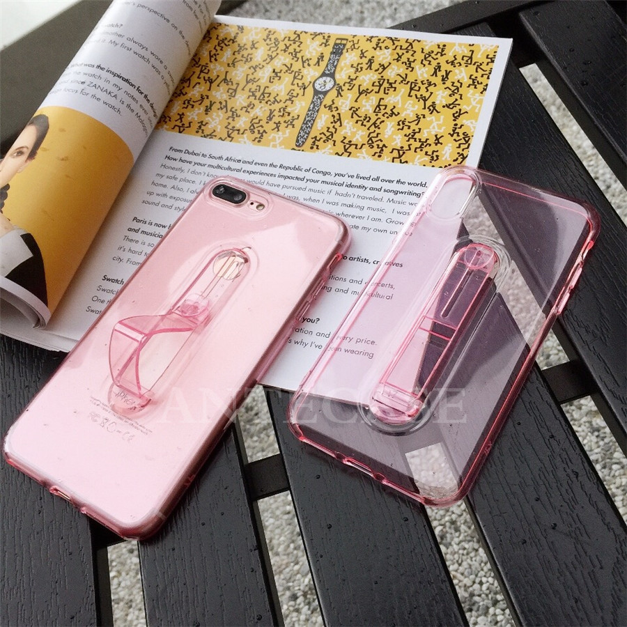 2019 New Fashion Finger Ring Cases For OPPO F7 F9 A5 Case Cover Cute OPPO R9S R11 R11S Plus R15 Transparent Silicone TPU Case