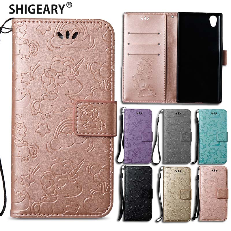 Shigeary case sFor Fundas Sony Xperia L1 Case Wallet flip Cover For Sony Xperia E6 Coque Shock proof Mobile stand Phone Cases